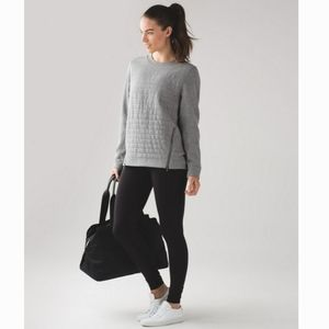 LULULEMON Fleece Be True Crew Light Gray Sweatshirt Top 4